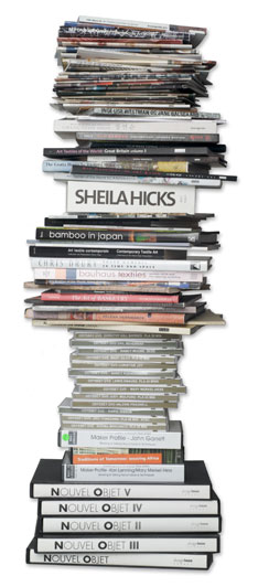 stack of books and catalogs